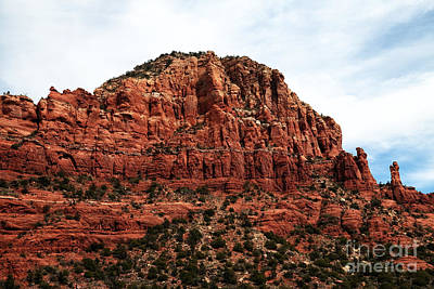 Photograph - Red Sandstone Peak by John Rizzuto