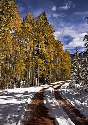 Photograph - Red Sandstone Road In October by Ellen Heaverlo