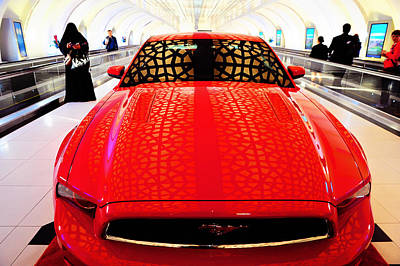 Photograph - Red Savage Beauty 1. Ford Mustang by Jenny Rainbow