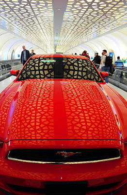 Photograph - Red Savage Beauty 2. Ford Mustang by Jenny Rainbow