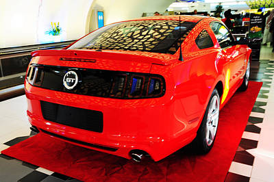 Photograph - Red Savage Beauty 5. Ford Mustang by Jenny Rainbow