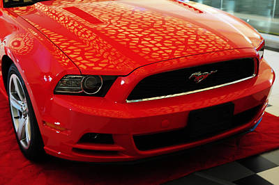 Photograph - Red Savage Beauty. 7 Ford Mustang by Jenny Rainbow