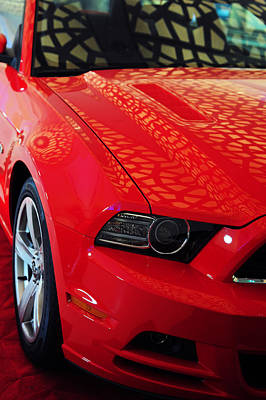 Photograph - Red Savage Beauty 8. Ford Mustang by Jenny Rainbow