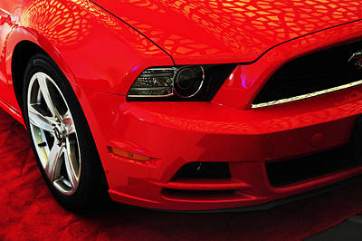 Photograph - Red Savage Beauty 9. Ford Mustang by Jenny Rainbow