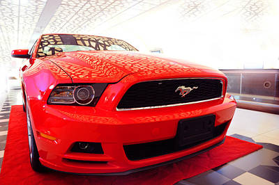 Photograph - Red Savage Beauty. Ford Mustang by Jenny Rainbow