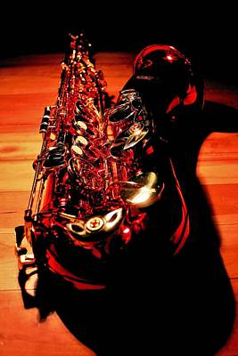 Photograph - Red Sax by Benjamin Yeager