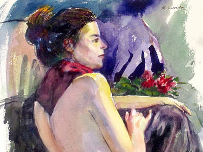 Painting - Red Scarf by Mark Lunde
