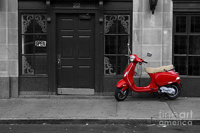 Photograph - Red Scooter by Diane Diederich
