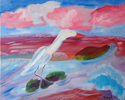 Red Seas Calling Art Print by Meryl Goudey