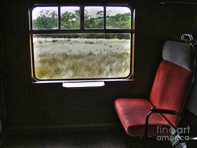 Photograph - Red Seat By Window by Nina Ficur Feenan