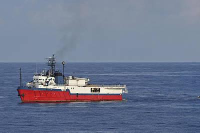 Photograph - Red Seismic Vessel by Bradford Martin