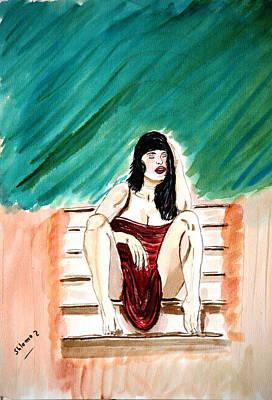 Red Sexy Passion Art Print by Shlomo Zangilevitch