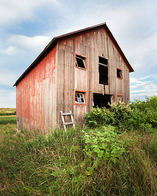 Print featuring the photograph Red Shack On Tucker Rd - Vertical Composition by Gary Heller