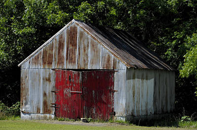 Photograph - Red Shed by Ed Waldrop
