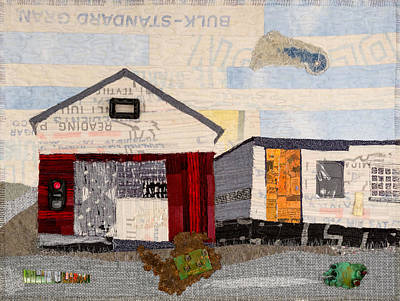 Tapestry - Textile - Red Shed Orange Door In Yellow House Pa by Martha Ressler