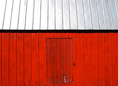 Red Shed Print by Sheryl Burns