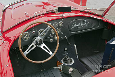 Photograph - Red Shelby Motors Roadster Signed By Carroll Shelby by David Zanzinger