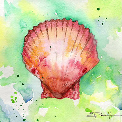 Painting - Red Shell by Sean Parnell