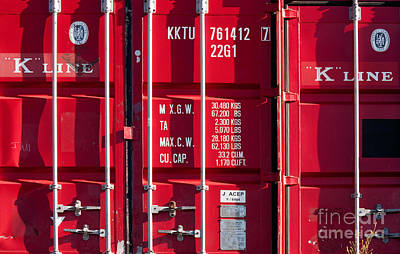 Photograph - Red Shipping Containers by Rick Piper Photography