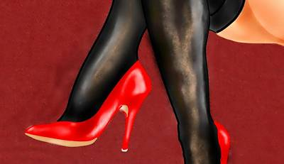Painting - Red Shoe by S Robinson