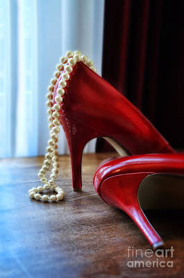 Photograph - Red Shoes And Pearls by Jill Battaglia