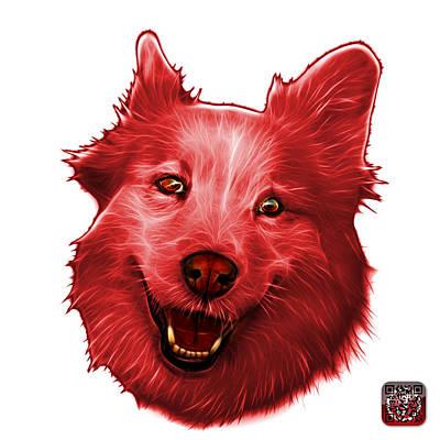 Painting - Red Siberian Husky Mix Dog Pop Art - 5060 Wb by James Ahn