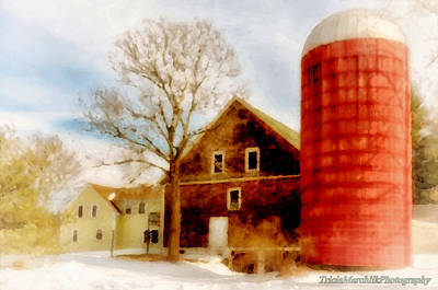 Photograph - Red Silo by Tricia Marchlik