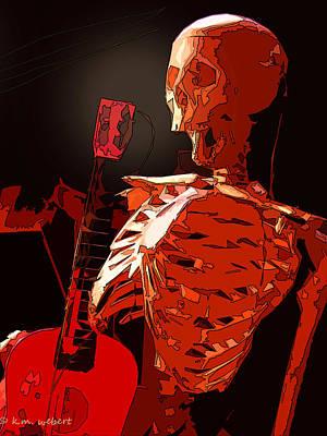 Heavy Medal Photograph - Red Skeleton by Kim Webert