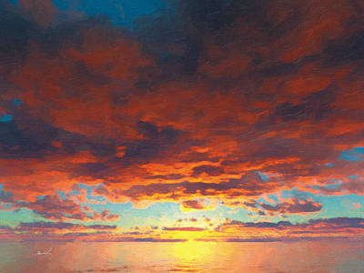 Painting - Red Skies Above by The Art of Marsha Charlebois