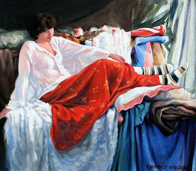 Painting - Red Skirt by Kevin Lawrence Leveque