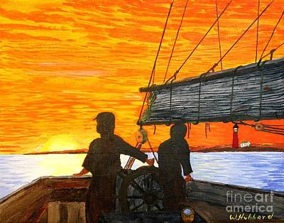 Painting - Red Sky At Night A Sailor's Delight by Bill Hubbard