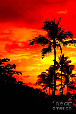 Art Print featuring the photograph Red Sky At Night by David Lawson