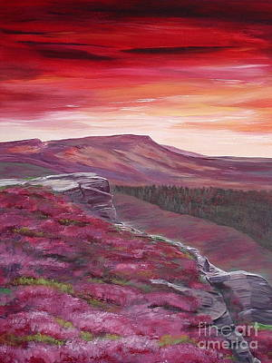 Painting - Red Sky At Night by Hazel Millington