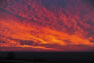 Photograph - Red Sky At Night High Point Nj by Terry DeLuco
