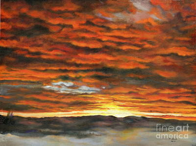 Painting - Red Sky At Night by Marlene Book
