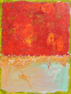 Painting - Red Sky At Night by Paulette B Wright