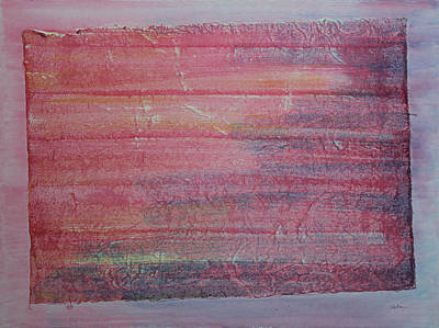 Red Sky At Night Sailors Delight Art Print by Asha Carolyn Young