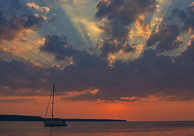 Red Sky At Night - Simcoe Art Print by Pat Speirs