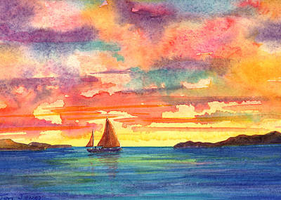 Van Dyke Painting - Red Sky At Night by Teri  Jones