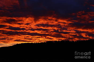 Photograph - Red Sky In The Morning by Ann E Robson