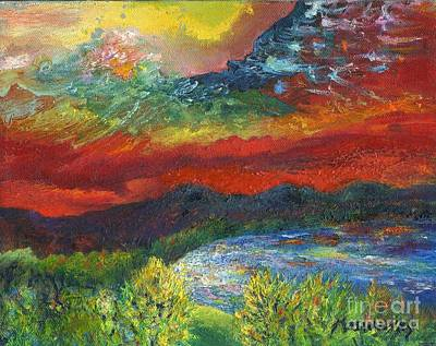 Painting - Red Sky In The Morning by Myra Maslowsky