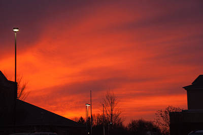 Photograph - Red Sky In The Morning by Steve Atkinson
