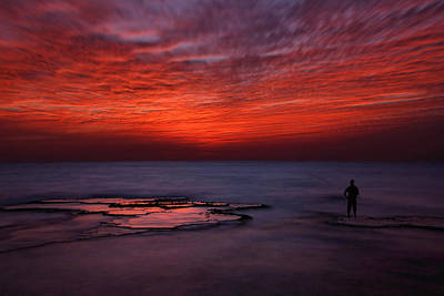Fishermen Photograph - Red Sky by Itay Gal