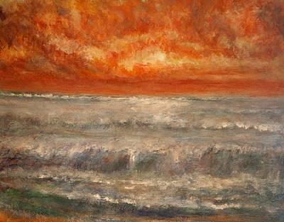 Red Sky Marine Art Print