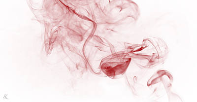 Photograph - Red Smoke by Kelly Smith