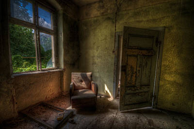 Haunted House Digital Art - Red Sofa by Nathan Wright