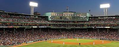Sports Royalty-Free and Rights-Managed Images - Red Sox and Fenway Park  by Juergen Roth