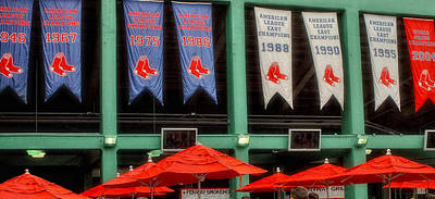 Fenway Park Photograph - Red Sox Champion Banners by Joann Vitali