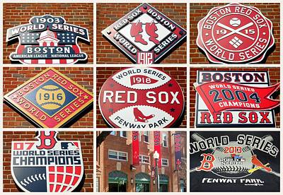Photograph - Red Sox Collage by Caroline Stella