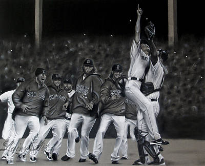 World Series Art Drawing - Red Sox Commission by Alaina Ferguson